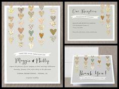 Love letter bookish wedding invitations