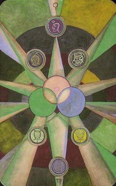 Aleister Crowley Tarot - Nine of Pentacles (Gain)