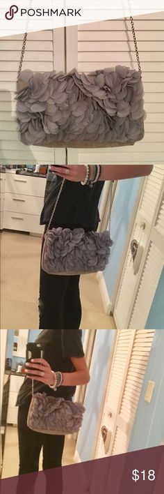 Embellished crossover purse (turns into clutch) Worn it only a few times. Gorgeous, super classy and chic bag. Very light and has decent space. Can easily be turned into a clutch Topshop Bags Crossbody Bags