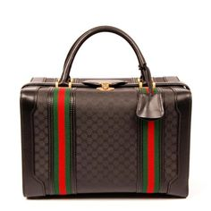 9fd0352117b7 Gucci Webby Coated Gg Dr. 6210 Black Canvas Weekend/Travel Bag - Tradesy  Gucci