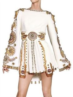 Fausto Puglisi Embroiderd Silk Crepe Dress http://www.luisaviaroma.com/productid/itemcode/55I-MC1019