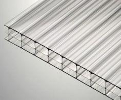 16mm clear triplewall polycarbonate sheet.
