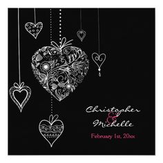 Shop Black and White Hearts Wedding Invite with RSVP created by HorseAndPony. Personalize it with photos & text or purchase as is! Heart Wedding Invitations, Holiday Invitations, Sharon Johnson, Valentines Day Holiday, Black And White Heart, Shades Of Black, White Envelopes, Smudging, Rsvp