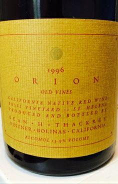 """Sean Thackrey """"Orion"""" 1996"""