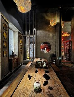 Japanese Restaurant Design, Restaurant Interior Design, Chinese Restaurant, Cafe Interior, Chinese Design, Asian Design, Chinese Tea Room, Chinese Buildings, Japanese Style House