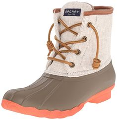 Sperry TopSider Womens Saltwater Prints Rain Boot TaupeNatural 9 M US *** Learn more by visiting the image link.
