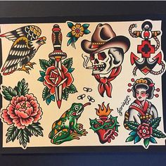 WEBSTA @ traditional_flash - Flash by @joeltattooer #trflash#traditional_flash#tattoo#tattooflash#traditional#traditionaltattoo#traditionalflash#tattooart#flash#art#illustration#drawing
