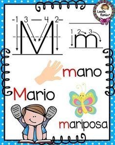 abecedario-grafomotor19 Preschool Letter M, Letter M Activities, Spanish Alphabet, Alphabet Book, Cognitive Activities, Montessori Playroom, Transitional Kindergarten, English Classroom, Learning Spanish