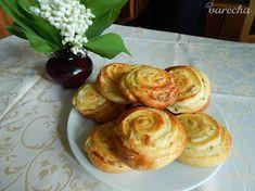 Bryndzové slimáky (fotorecept) - recept | Varecha.sk Ale, Muffins, Appetizers, Breakfast, Kitchen, Basket, Cuisine, Muffin, Ale Beer