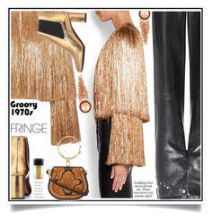 """Shimmy Shimmy: Fringe"" by ewa-naukowicz-wojcik ❤ liked on Polyvore featuring Givenchy, Calvin Klein 205W39NYC, Yves Saint Laurent, Chloé, MAC Cosmetics and fringe"
