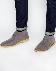 a4c1a48b730 New Look Lace Up Desert Boots In Grey at asos.com