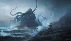 #kraken #beast #sea #folklore #slavic #fantasy #storm #octopus https://www.facebook.com/pg/lucasstaniecart