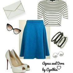 Agnes and Dora Midi Skirt