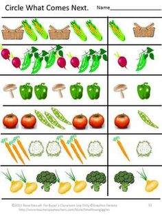 Fruit and Vegetable Worksheet Set.  Helps children identify fruits and veggies.