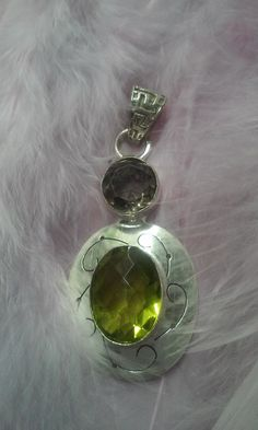 Emerald,olivia silver medal by Zsuzsanka on Etsy