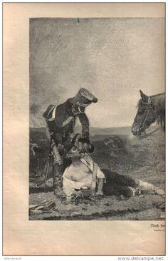 """Nach der Schlacht  - Druck, entnommen  aus """"die Gartenlaube"""", 1910"""