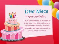 For A Favorite Niece On Her Birthday Poems Pinterest Niece Birthday Wishes Birthday