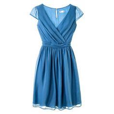 TEVOLIO™  Women%27s Chiffon Cap Sleeve V-Neck Dress - Fashion Colors #targetawesomeshop