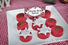 Chocolate cowboy Oreos from Wild West Cowboy Party at Kara's Party Ideas. See more at karaspartyideas.com!