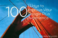 If Google Plus leaves you feeling a little blah, you probably need to try some of these experience boosters! I've listed one hundred different actions you can take. Some are one-time changes. Others are more complicated or need to be done periodically. But they all will help you discover more of what G+ has to offer and, better yet, help other G+ users discover you. Plunge in and make the most of the social layer of Google!