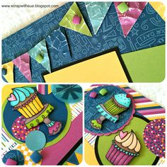 CTMH Confetti Wishes with our ShinHan markers.  www.scrapwithsue.blogspot.com