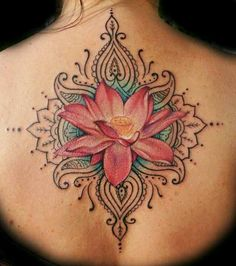 Open lotus tattoo