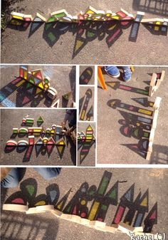 Using colour blocks to explore shadow in the Early Years Eyfs Activities, Color Activities, Science Activities, Activities For Kids, Nursery Activities, Eyfs Classroom, Outdoor Classroom, Construction Area Early Years, Mark Making Early Years