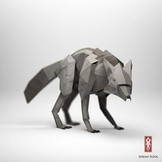 Origami Illustrations of Animals. Origami is the traditional Japanese art of paper folding but Jeremy Kool has created a digital representation of paper Origami 3d, Mode Origami, Origami Paper, Oragami, Origami Paloma, Low Poly, Architecture Origami, Kubo And The Two Strings, 3d Figures