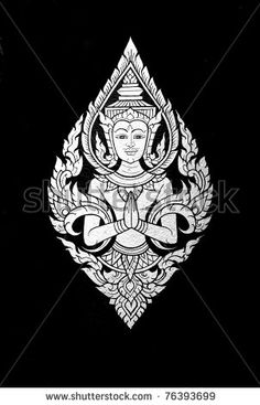 stock photo : Traditional Thai art, Hello god.