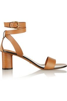 Gucci Suede-trimmed leather sandals | NET-A-PORTER