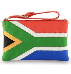 Assots. Binding Nation collection.Real/Genuine Leather SOUTH AFRICAN flag bag/ clutch/wallet/purse.: Amazon.co.uk: Shoes & Bags