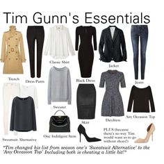 Tim Gunn's Essentials by charlotte-mcfarlane on Polyvore featuring Uniqlo, Polo Ralph Lauren, Jigsaw, Diane Von Furstenberg, 7 For All Mankind, Kurt Geiger, Fendi, women's clothing, women's fashion and women
