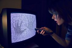 girl, tv, and hands image