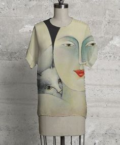 ART to wear happy Wearable Art, Modern Art, Happy, How To Wear, Collections, Paintings, Blue Prints, Paint, Painting Art
