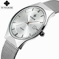 New Men Watches Top Brand Luxury 50m Waterproof Ultra Thin Date Clock Male Steel Strap Casual Quartz Watch Men Wrist Sport Watch Check it out!  #shop #beauty #Woman's fashion #Products #Watch
