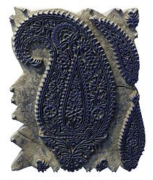 """Paisley (design) - Wikipedia,     also called """"Persian pickles"""" or """"Welsh pears"""""""