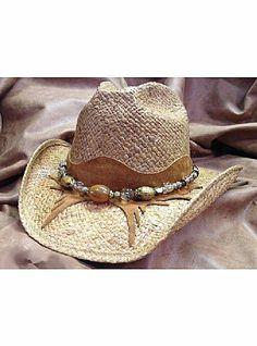 Shady Brady Hats New West Collection Western Raffia Straw Hat w Amber Bead  on Crescent 840b62ef9f32