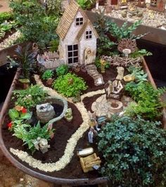 Best Diy Miniature Fairy Garden Ideas , As you're probably producing your fairy garden for your children anyway, go right ahead and make one in lieu of a sandbox. Your fairy garden is likely. Mini Fairy Garden, Fairy Garden Houses, Diy Garden, Wooden Garden, Garden Crafts, Garden Projects, Fairy Gardening, Garden Types, Organic Gardening