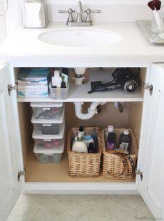 Elegant organize Bathroom Cabinet Under Sink