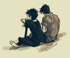 Percy Jackson and Nico di Angelo Heroes of Olympus