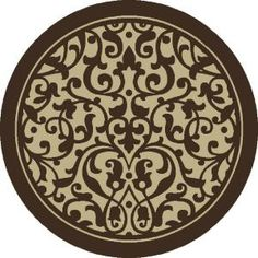 Shaw Living Christine Brown 7 Ft. 10 Round Area Rug   3UA5173700 At The Home