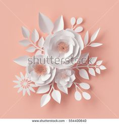 Find Render Digital Illustration White Paper stock images in HD and millions of other royalty-free stock photos, illustrations and vectors in the Shutterstock collection. Thousands of new, high-quality pictures added every day. Paper Flower Patterns, Paper Flower Art, Paper Flower Backdrop, White Paper Flowers, Diy Flowers, Blush Flowers, Valentines Day Greetings, Valentine's Day Greeting Cards, Art Floral
