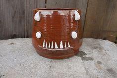 Large+hand+thrown+ceramic+serving+Demon+bowl+by+skeletaldropkick,+$30.00