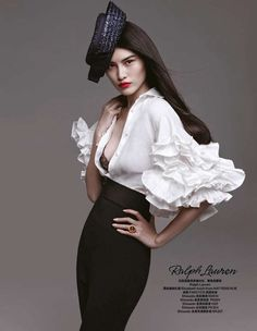 Glam Ladylike Fashion - The Harper's Bazaar China March 2013 Editorial Stars Chic Model Sui He (GALLERY)