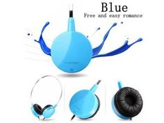 CD-360V headphone portable headset stereo with microphone Blue