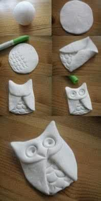 Makes me think of my sisiter :) DIY: Clay Owl. Will use air dry clay or salt dough. Kids Crafts, Cute Crafts, Crafts To Do, Arts And Crafts, Easy Crafts, Magic Crafts, Crafts Cheap, Stick Crafts, Craft Kids