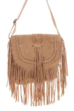 Medium Fringe Suede Saddle Messenger Bag #GetEverythingElse #MessengerCrossBody