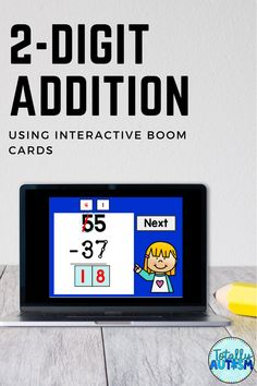 2 Digit addition using touch points can be practiced using this set of boom cards. Boom cards are digital task cards that students can use on any device. Touch math using Boom cards is the way to go! Touch Point Math, Touch Math, Technology Integration, 1st Grade Math, Addition And Subtraction, Classroom Activities, Task Cards, Special Education, Teacher Pay Teachers