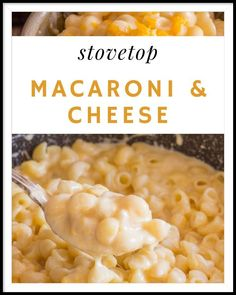 Sometimes the only thing we need is a little comfort, sometimes it comes from family, sometimes from friends and sometimes from food. I think this Stovetop Macaroni and Cheese is the perfect dish if you are looking or needing a little comfort! Macaroni Recipes, Macaroni Cheese, Pizza Recipes, Side Dish Recipes, Best Italian Recipes, Favorite Recipes, Italian Spaghetti And Meatballs, Authentic Italian Desserts, Healthy Chicken