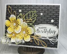 Happy Monday Peeps!! Today I sharing a card I made using the challenge this week at The Paper Players. This week it is a Tic Tac Toe Challenge: I went with the top line: Yellow, Twine and Birthday.